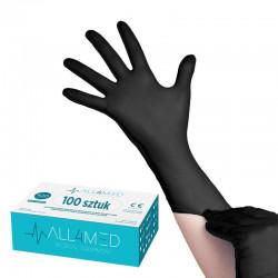 Rękawice nitrylowe S 100 szt
